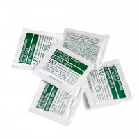"Moist Towelettes Disposable Single Use 70% Alcohol Isopropyl Wipes 5""x7"" - Box of 1000"