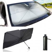 Foldable Car Windshield Sun Shade Umbrella - 125 x 76 cm