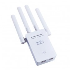 WiFi 1200Mbps Dual-Band 2.4G/5G 4 Antenna Extender Wireless Repeater WiFi Repeater