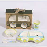 Shall 5PCS Kid Dinnerware Set