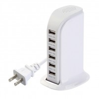 Toytexx 30W 6 Port USB Universal Charging Station Rapid Charger Power Adapter USB Multi Socket Charging Organizer