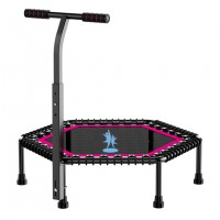 50 inch Fitness Hexagon Trampoline with Adjustable Handlebar