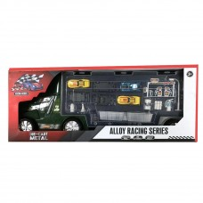 Metal Model - Die-Cast Toy Truck Transport Car Carrier - Toy Truck Includes 6 Toy Cars and Accessories - 556
