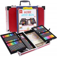 MOBEE 97-Piece Artist Box Set with Aluminum Case, Children Kids Pencil Crayon Kit for Painting and Drawing