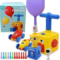 Children Air Powered Rocket Balloon Car, Balloon Launcher and Powered Car Toy Set with Astronaut