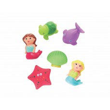 Toytexx 10 PCS Baby Bath Toys Ocean Animals Mermaid Water Squirting Bathtub Fun for Children