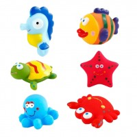 Toytexx 12 PCS Baby Bath Toys Ocean Animals Water Squirting Bathtub Fun for Children