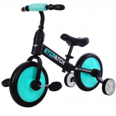 Kids 2 in 1 Carbon Steel Balance Bike to Pedal Bike with Training Wheels, Lightweight with Foam Tire Adjustable Seat Detachable Pedals