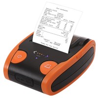 Portable 58mm Bluetooth POS Receipt Thermal Printer, Compatible with iOS/Android/Windows QS-5806 - Orange
