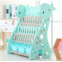 Lightweight Children Cartoon Baby Blue Deer Themed Bookshelf