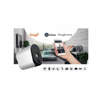 HD 720P Indoor/Outdoor WIFI Security Camera with Two-Way Talk, Night Vision(Battery Included)