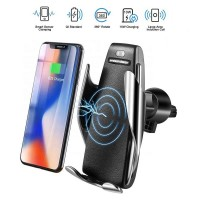 S5 Wireless Smart Sensor Car Charger Mount Air Vent Phone Holder for Apple, Android Smartphones