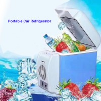 Electric Cooling and Warming Portable 7.5 Liter 12V Car Refrigerator  Single Door - Blue