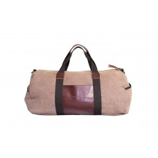 Canvas Leather Travel Duffel Gym Bag for Men for Women Weekend Bag