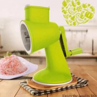 Toytexx Multi-Function Hand Crank Vegetable Cutter Chopper Slicer for Vegetable Salad Meat Garlic Fruit-Green Color