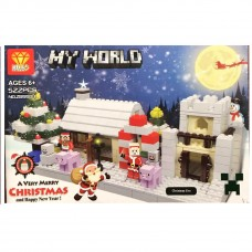 Toytexx DIY 522 Pcs Christmas Building Kits Toy Gifts for Kids Mini Building Blocks Set of Christmas Villa and House