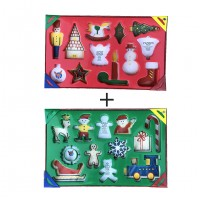 2 Set  Wonder Cookies Set  Quick Cutter System - Christmas Cookie Cutter Set