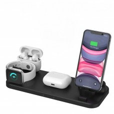 2020 Six in One Qi Wireless Charging Station for iPhone, AirPods Pro, and Apple Watch (Series 1-5)