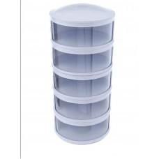 Multifunctional 5-Layer Stackable Shelf Insulation Food Cover Dust Proof Transparent Dish Tray Container