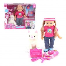 "BiBi 14"" Inch Baby Dress Up Pretend Hairstyling Play Doll with Pet - 33247"