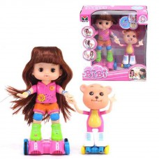 BiBi Interactive Dancing Doll and Bear Roller Skating Set - 33306