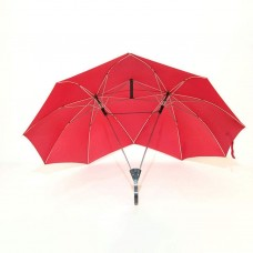 2-Pole Semi-Automatic Couple Umbrella