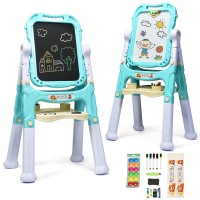 Children Kids Easel Double Sided Artist Drawing Board with Accessories - 050-2