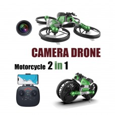 2 in 1 Deformation RC Folding Motorcycle Drone--WIFI Camera Model