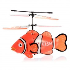 FXD 3CH Mini Infrared RC Clown Fish Helicopter - A68693