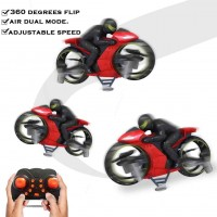 2-in-1 Remote Control Stunt Motorcycle for Ground and Air