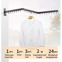 Multi-Function Expandable Drying Rack Heavy Duty Wall Mount Rack