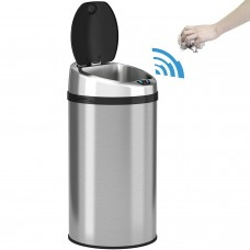 Intelligent Stainless Steel Dust Bin with Touchless Motion Sensor, 8L