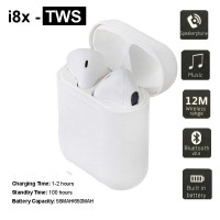 I8X Bluetooth V4.2 Wireless Earbuds Headphones Built-in Mic Charging Case Android iOS Devices