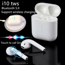 I-10 Pro Wireless Bluetooth 5.0 Earbuds Touch Control Headphones with Wireless Charging Case