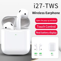 I27 TWS 5.0 Bluetooth Headphones Wireless Charging Earbuds with Pop-up Display(iOS Only)