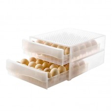 Double-layer 60 Grids Egg Storage Box Plastic Egg Tray Organizer Box for Home Kitchen
