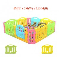 "76.5"" x 48"" x 25""  Children Safety Fence"