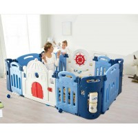 Toytexx 2M x 1.2M x 0.66M Baby Kid Playpen Panel Activity Center Safety Castle Style Fence Playyard