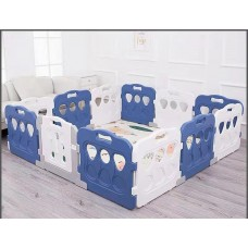 Toytexx 196CM x196 CM (77.2''x77.2'') Baby Kid Playpen Panel Activity Center Safety Fence Playyard_Blue_White Model