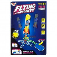 Flying Rocket Air Powered Foot Stomping Dart Foam Rocket - 777-730A