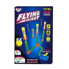 3-in-1 Flying Rocket Air Powered Foot Stomping Dart Foam Rocket - 777-730B