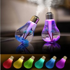 Bulb Humidifier, Unique Creative Bulb Shape 7 Colors Lighted cute Humidifier for Home Office