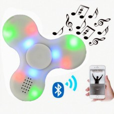 Fidget Hand Spinner With Wireless Built-in Bluetooth Speaker LED Light