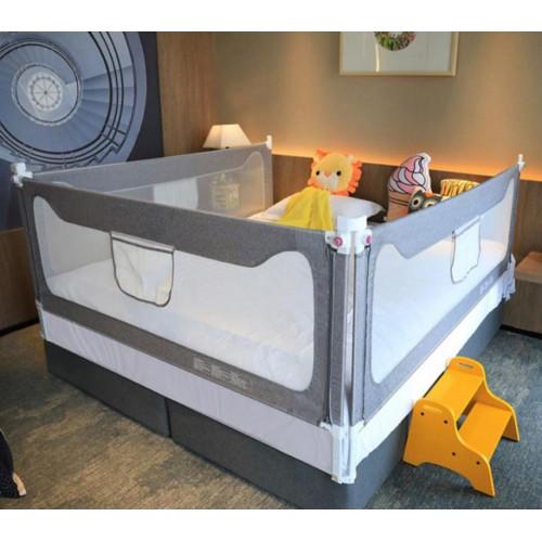 Toddlers 3 Set for 3 Sides king Size Bed Safety Bed Grey Guardrail Bed Fence for Children Infants