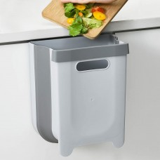 Foldable Hanging Waste Bin Container Collapsible Garbage Bin for Cabinet/ Car/ Bathroom - 9L
