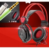 X8S Hi-Fi Over-Ear Phone Gaming Headset with Mic and LED Light for Android