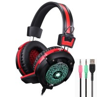 X8 Hi-Fi Over-Ear Professional Gaming Headset with Mic and LED Light For PC