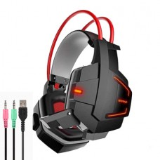 X5 Hi-Fi Over-Ear Professional Gaming Headset with Mic and LED Light For PC