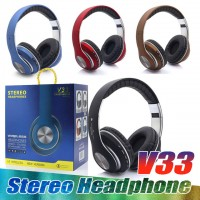 V33 Bluetooth Over Ear , Foldable, Soft Memory-Foam Earmuffs Headphone for PC/Cell Phones/TV