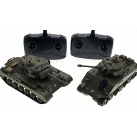 1:30 U.S.A M26 PERSHING AND M4A3 SHERMAN RC Infrared Battle Tank